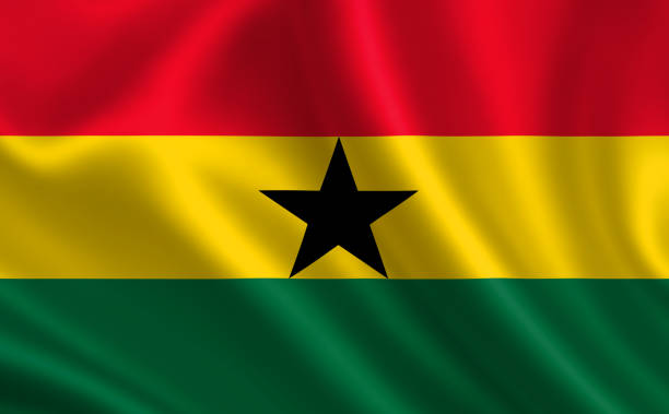 """Image of the flag of Ghana. Series """"Africa"""""""
